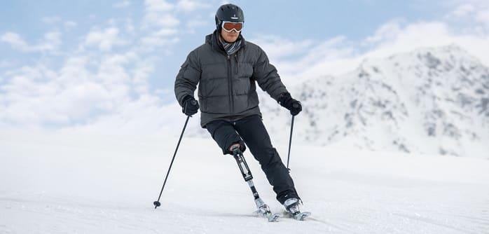 لذت بردن بی خطر از زمستان با پای مصنوعی