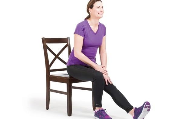 تمرین بالا کشیدن پا به صورت صاف برای اصلاح پای پرانتزی