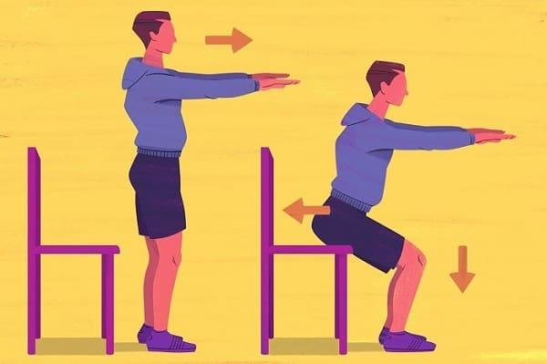 حرکت بشین و پاشو برای اصلاح پای پرانتزی